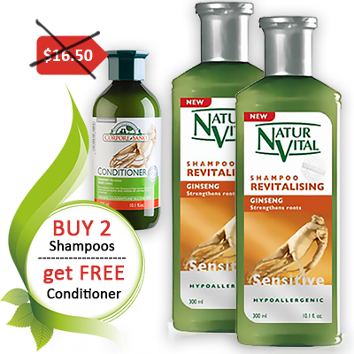 Free Ginseng Conditioner with 2 shampoos