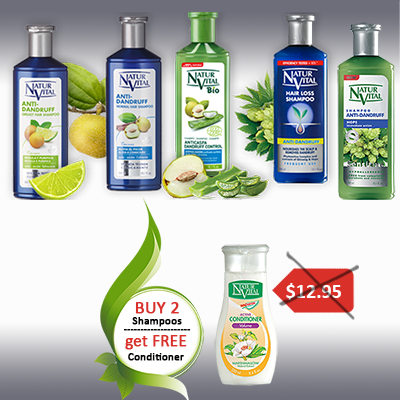 Buy 2 shampoos - get FREE conditioner