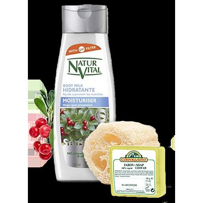 Moisturising Body Milk and Loofah Soap